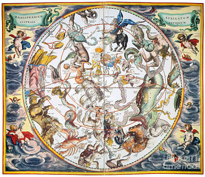 Celestial Planisphere, 1660 Print by Granger