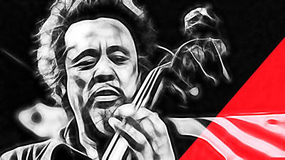 Charles Mingus Collection Print by Marvin Blaine