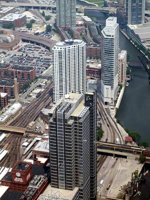 Chicago From Rooftop Original by Nicola De Rossi