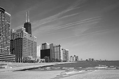 Mural Photograph - Chicago Skyline And Beach by Frank Romeo
