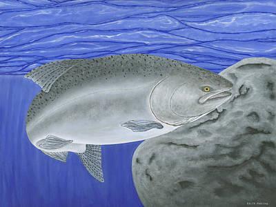 Salmon Painting - Chinook Salmon by Ralph Martens
