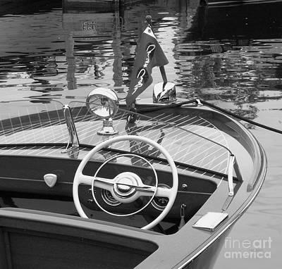 Wooden Boat Photograph - Chris Craft Sportsman by Neil Zimmerman