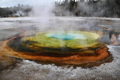 Chromatic Pool Yellowstone Print by Pierre Leclerc Photography