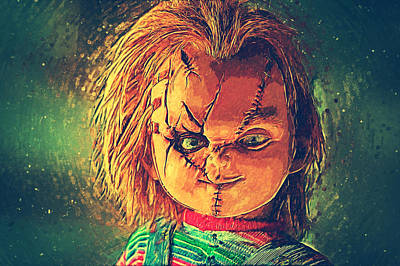 Lakeshore Digital Art - Chucky by Taylan Soyturk