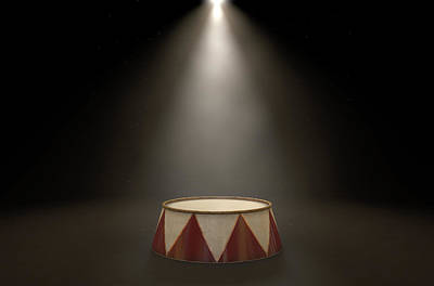 Limelight Digital Art - Circus Podium Spotlit by Allan Swart