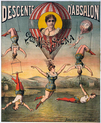 Trapeze Artist Photograph - Circus Poster, C1890 by Granger