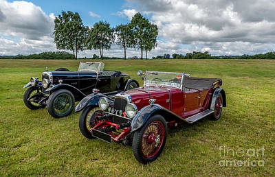 Classic Cars Print by Adrian Evans