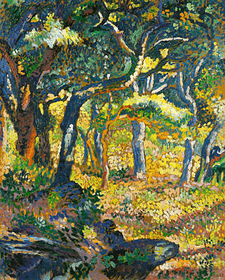 Pointillist Painting - Clearing In Provence  by Henri-Edmond Cross
