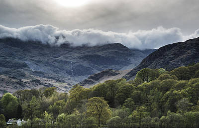 Cloud Inversion Landscape Old Man Of Coniston With Forest In For Print by Matthew Gibson