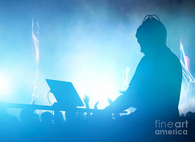 Loud Photograph - Club Dj Playing And Mixing Music For People by Michal Bednarek