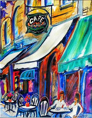 Painting - Coffee In The Village by Therese Fowler-Bailey