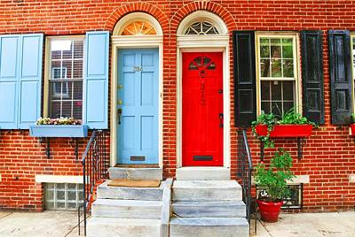 Colonial Doors Print by Andrew Dinh
