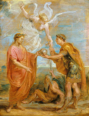 Counter Painting - Constantius Appoints Constantine As His Successor by Peter Paul Rubens