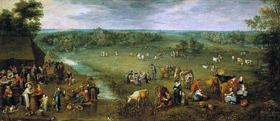 Agriculture Painting - Country Life by Jan Brueghel the Elder