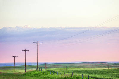Telephone Poles Photograph - Country Road by Todd Klassy