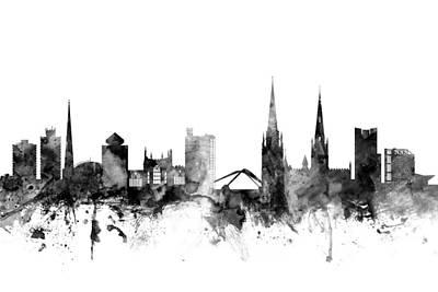 Great Digital Art - Coventry England Skyline by Michael Tompsett
