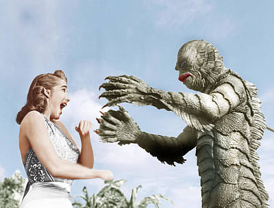 Ev-in Photograph - Creature From The Black Lagoon by Everett