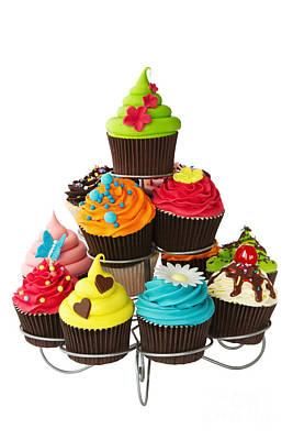 Cupcake Stand Print by Ruth Black