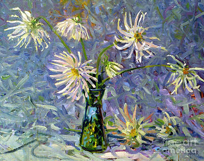 Oil For Sale Painting - Dahlias by Donald Maier