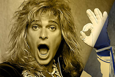 David Lee Roth Collection Print by Marvin Blaine