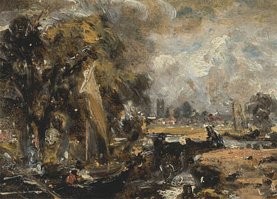Locks Painting - Dedham Lock by John Constable