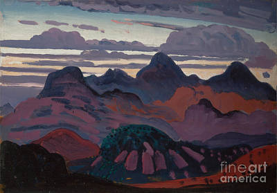 Dickson Painting - Deep Twilight Pyrenees  by Celestial Images