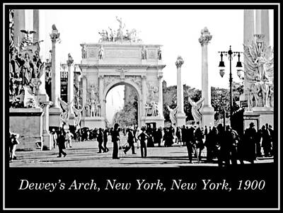 Dewey's Arch, New York, 1900, Vintage Photograph Print by A Gurmankin