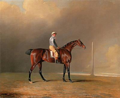 Benjamin Marshall Painting - Diamond With Dennis Fitzpatrick Up by Benjamin Marshall