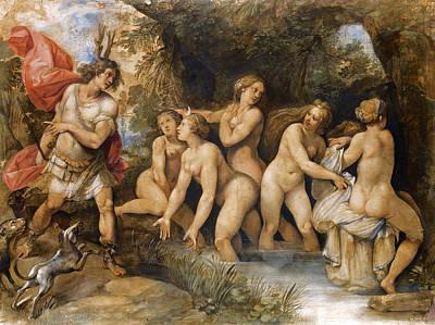 Giuseppe Cesari Painting - Diana And Actaeon by Giuseppe Cesari