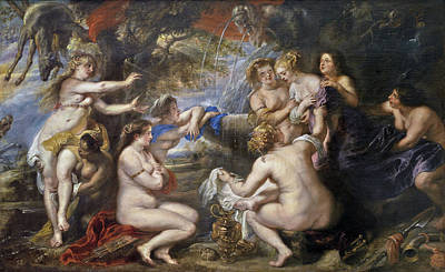 Greek Painting - Diana And Callisto by Peter Paul Rubens
