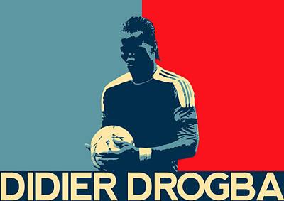 Champion Digital Art - Didier Drogba by Semih Yurdabak