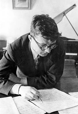 Thoughtful Photograph - Dimitri Shostakovich,  Russian Composer by Everett