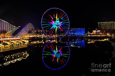 Disney California Adventure Mickey's Fun Wheel Print by Peter Dang