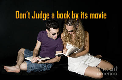 Famous Book Digital Art - Don't Judge A Book By Its Movie. by Humorous Quotes