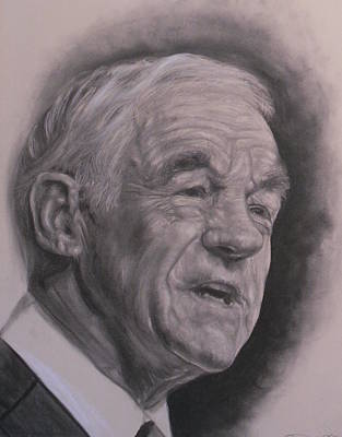 Dr. Ron Paul  Print by Adrienne Martino