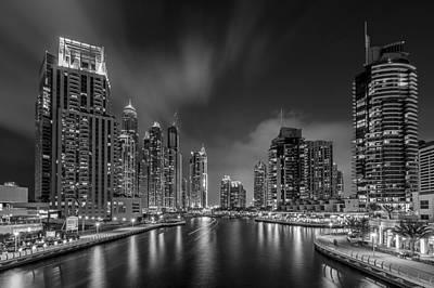 Water Reflections Photograph - Dubai Marina by Vinaya Mohan