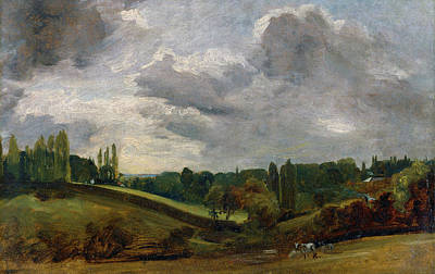 Cattle Painting - East Bergholt by John Constable