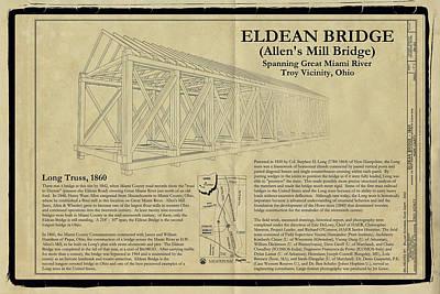 Eldean  Covered Bridge Print by Jack R Perry