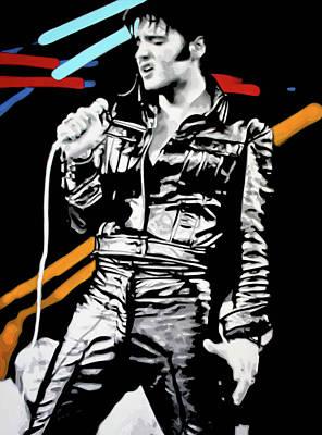 Elvis Presley Painting - Elvis by Luis Ludzska