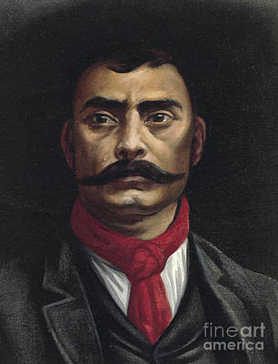 Lapel Painting - Emiliano Zapata by Mexican School