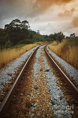 Destiny Photograph - Empty Railway by Carlos Caetano