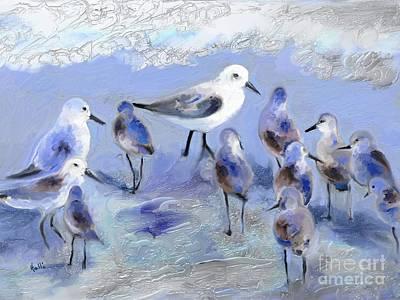 Sandpiper Digital Art - Ensemble by Aline Halle-Gilbert