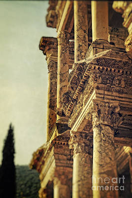 Library Photograph - Ephesus by HD Connelly