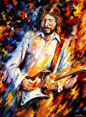 Eric Clapton Painting - Eric Clapton by Leonid Afremov