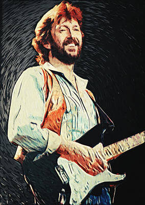 Yardbirds Digital Art - Eric Clapton by Taylan Soyturk
