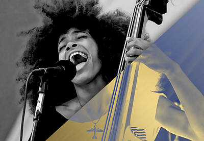 Music Mixed Media - Esperanza Spalding Collection by Marvin Blaine