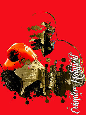 Boxer Mixed Media - Evander Holyfield Collection by Marvin Blaine