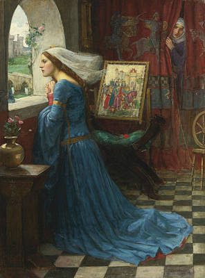 Medieval Painting - Fair Rosamund by John William Waterhouse