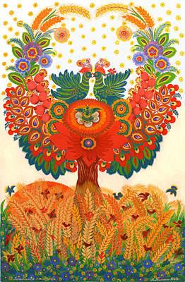 Tree With Eye Painting - Family Replenishment by Marfa Tymchenko
