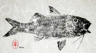 Fenwick Gyotaku Original by Sam Fenwick